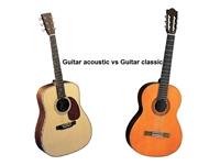 Cách phân biệt giữa đàn Guitar Classic và Guitar Acoustic