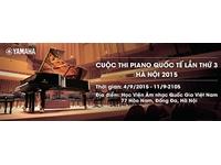 Cuộc thi Piano Quốc Tế lần thứ 3 – Hà Nội 2015