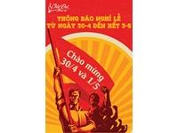Nhạc cụ Tiến Đạt thông báo lịch nghỉ lễ 30/4 - 01/05/2020