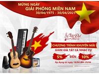 Khuyến mãi 30/4 - 1/5: Sale nhạc cụ giảm giá đến 10%