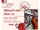 Sale nhạc cụ Tết 2021 Tân Sửu
