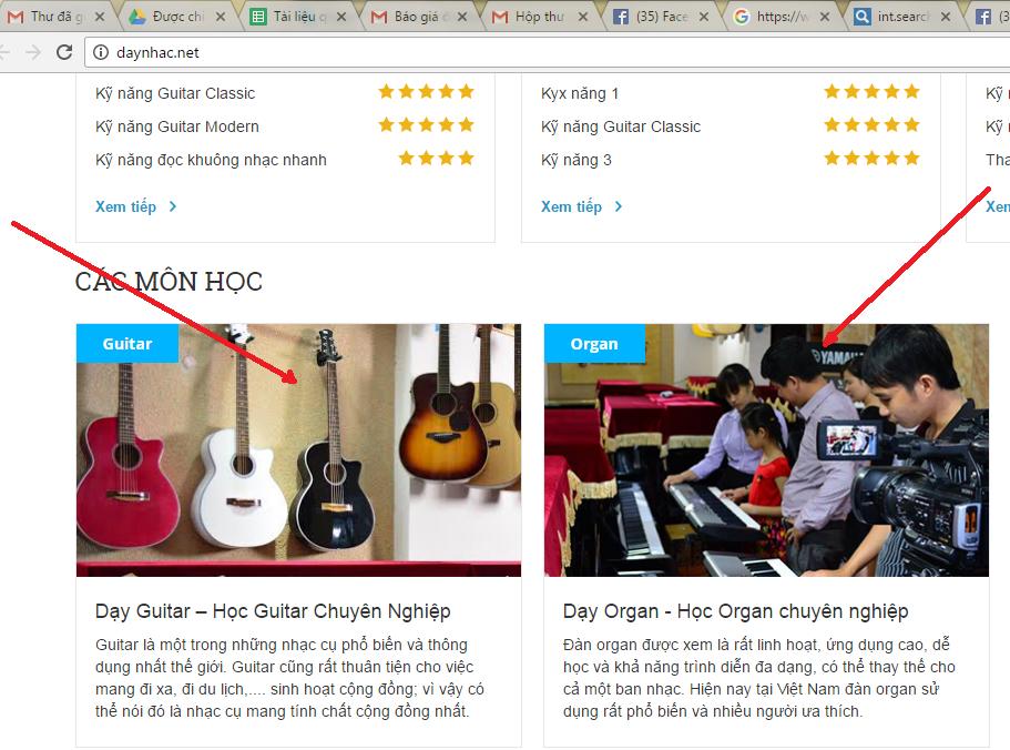 Trung tâm âm nhạc PHAOLO đã có hành vi ăn cắp hình ảnh bản quyền của Nhạc cụ Tiến Đạt