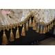 Khăn phủ trùm đàn Piano nhung vàng thêu hoa - KC09 2