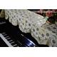 Khăn phủ đàn Piano hoa vàng nhỏ ánh bạc - KU07 1
