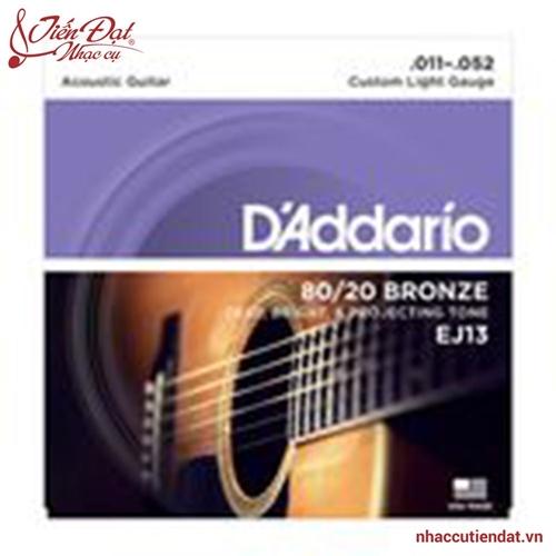Dây đàn guitar Acoustic DAddario EJ13 0