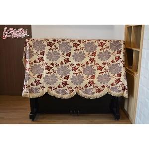 Khăn phủ trùm đàn Piano thêu hoa sang trọng - KC03