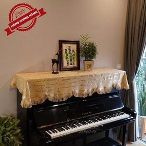 Khăn phủ đàn Piano họa tiết nốt nhạc KU-018