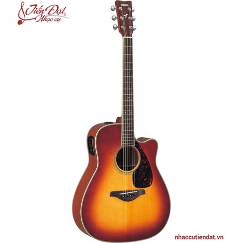 Đàn Acoustic guitar Yamaha FGX720SCA-Nâu ánh mặt trời