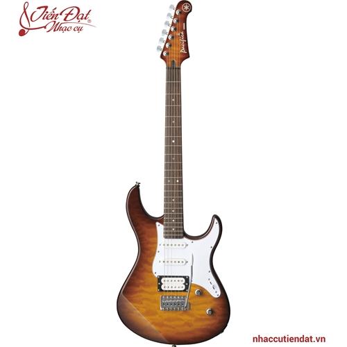 Đàn Electric guitar PACIFICA212VQM màu nâu thuốc lá lóe