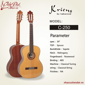 Đàn guitar Classic Kriens C250