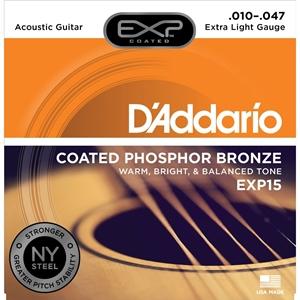 Dây Đàn GuitarAcoustic D'Addario COATED Phosphor Bronze EXP15