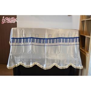 Khăn phủ đàn Piano màu xanh da trời họa tiết nốt nhạc - KC 04