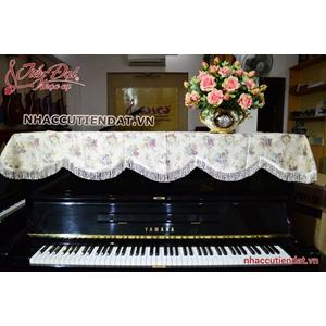 Khăn phủ đàn Piano thêu hoa hồng bất tử - KU04
