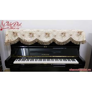 Khăn phủ đàn piano hoa bất tử đôi công-KU012