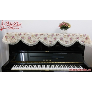 Khăn phủ đàn piano thêu hoa hồng bất tử-KU04