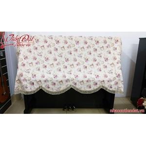 Khăn phủ đàn piano thêu hoa hồng dây-KC07