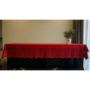 Khăn phủ nắp đàn piano ren đỏ KU016